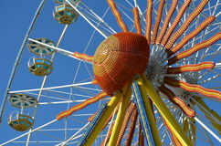 Multicolored Ferris Wheel in an amusement park Royalty Free Stock Photo