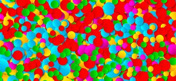 Multicolored festive paper confetti background. Vector illustration for decoration of holidays, postcards, posters, websites, carn. Ivals, birthday parties Stock Photo