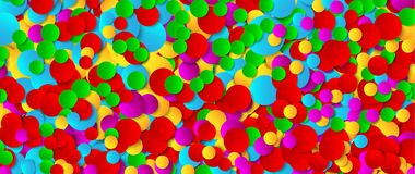 Multicolored festive paper confetti background. Vector illustration for decoration of holidays, postcards, posters, websites, carn. Ivals, birthday parties Stock Image