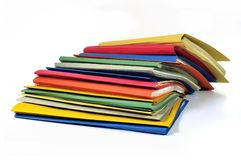 Multicolored files and folders Stock Images