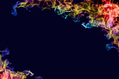 Multicolored fire Stock Image