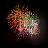 Multicolored fireworks square Royalty Free Stock Photography
