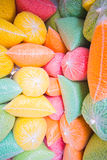Multicolored fish food Stock Photography