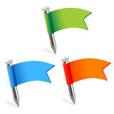 Multicolored flags Royalty Free Stock Photography