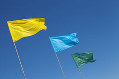 Multicolored Flags Stock Photos