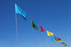 Multicolored Flags Stock Images