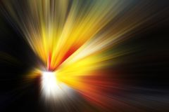 Multicolored flash. Abstract background. Photo with flash effect. Colorful light ray burst beam explosion speed zoom fast blur blast motion line tunnel stock illustration