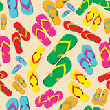 Multicolored flip flop pattern Royalty Free Stock Photo