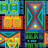 Multicolored floor mats seamless pattern Stock Photo