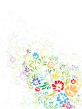 Multicolored floral abstract decoration Stock Images