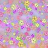 Multicolored floral background Stock Photos