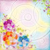 Multicolored floral background Stock Images