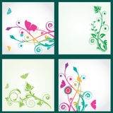 Multicolored floral backgrounds set Royalty Free Stock Photography
