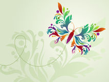 Multicolored floral butterfly Royalty Free Stock Image