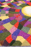 Multicolored floral carpet Stock Image