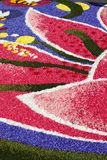 Multicolored floral carpet Royalty Free Stock Photos