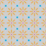 Multicolored Floral Ethnic geometric patterns colorful design for background or wallpaper. Abstract print. 10 eps stock illustration