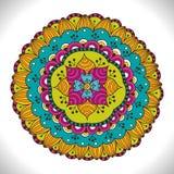 Multicolored Floral Mandala. Colorful decorative round ornament Stock Image