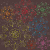 Multicolored floral ornament simple Stock Photography