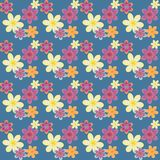 Multicolored floral pattern Royalty Free Stock Image