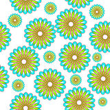 Multicolored floral pattern seamless Royalty Free Stock Photos