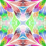 Multicolored floral pattern in stained-glass window style. You c Stock Photo