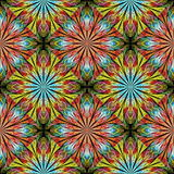 Multicolored floral pattern in stained-glass window style. You c Stock Photos