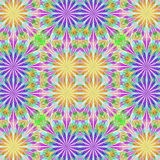 Multicolored floral pattern in stained-glass window style.  Royalty Free Stock Photos