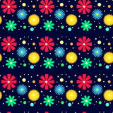 Multicolored floral pattern Stock Image