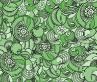 Multicolored floral seamless texture, waves. Elegance background Royalty Free Stock Image