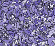 Multicolored floral seamless texture, waves. Elegance background Royalty Free Stock Photography