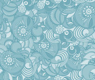 Multicolored floral seamless texture, waves. Elegance background Stock Photo