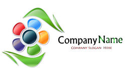 Multicolored Flower Company Logo Stock Images