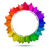 Multicolored flower, vector concept Royalty Free Stock Photo
