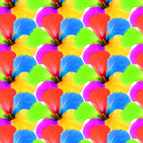 Multicolored flowers kaleidoscope pattern as abstract background Royalty Free Stock Photography