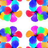 Multicolored flowers kaleidoscope pattern on white. As abstract background.Digitally generated image Royalty Free Stock Photos