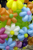 Multicolored flowers made of balloons. royalty free stock photo