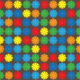 Multicolored flowers of seamless pattern Royalty Free Stock Photo