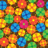 Multicolored flowers of seamless pattern Royalty Free Stock Image