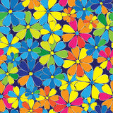 Multicolored flowers seamless pattern Royalty Free Stock Photos