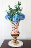 Multicolored flowers in vase Stock Photography