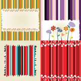 Multicolored flowery frames Royalty Free Stock Image
