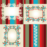 Multicolored flowery frames Stock Photos