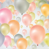 Multicolored flying balloons Royalty Free Stock Photos