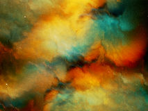 Multicolored fog in deep space Stock Photos