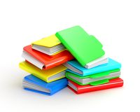 Multicolored folders Stock Images