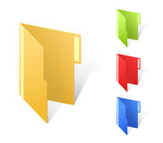 Multicolored folders with textfield Stock Images