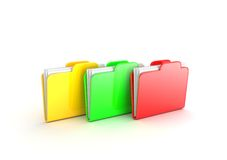 Multicolored folders Stock Photography