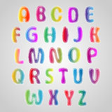 Multicolored Font, set of colorful letters. Royalty Free Stock Images