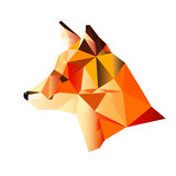 Multicolored fox on the white Royalty Free Stock Photo